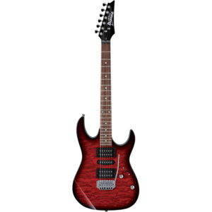 IBANEZ GRX70QA-TRB Transparent Red Burst EL. Guitar