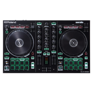 ROLAND DJ202 Dj Controller Serato Intro With Four Decks