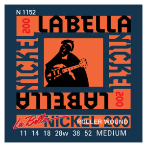 LA BELLA N1152 Nickel 200 Roller Wound - Medium 11-52 Electric Guitar Strings