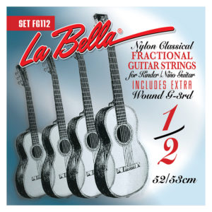LA BELLA FG112 Classical Fractional Guitar Strings 1/2 Size