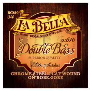 La Bella RC610 Elite Chrome Rope Core Double Bass Set