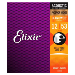 ELIXIR Nanoweb Light Phosphor Bronze 12-53 Set (16052)
