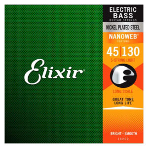 ELIXIR 5-String Bass Set Nanoweb 045-130 Medium 14202