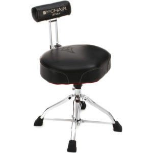 TAMA Ergo-Rider Quartet with Backrest - Black (HT741B)