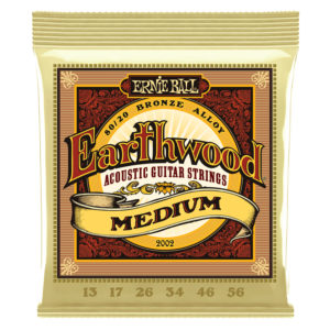 ERNIEBALL Earthwood Medium 80/20 Bronze Acoustic Guitar Strings 013-056 Gauge