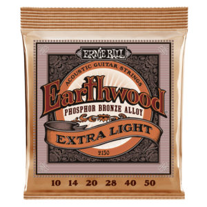 ERNIEBALL Earthwood Extra Light Phosphor Bronze Acoustic Guitar Strings 10-50 Gauge