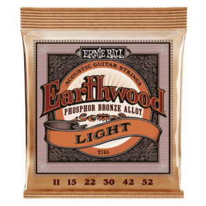 ERNIEBALL Erthwood Light Phosphor Bronze Acoustic Guitar Strings 11-52 Gauge