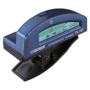 BOSS TU-10-BU Clip-On Chromatic Tuner (Blue)
