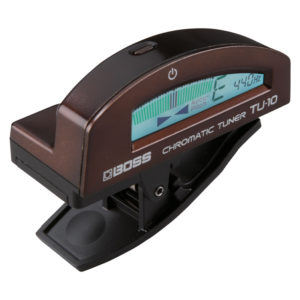 BOSS TU-10-BN Clip-On Chromatic Tuner (Brown)