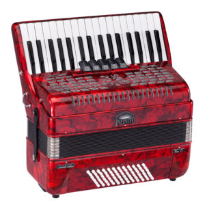 SOUNDSATION Infinito Voice II 72 Bass Key Accordion Red Perloid (3472-RD)