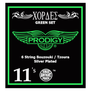 PRODIGY Green Set 0.11's For 6 String Bouzouki / Tzoura