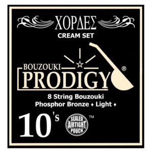 PRODIGY CREAM SET BOUZOUKI 8 STRINGS 0.10 SET BRON