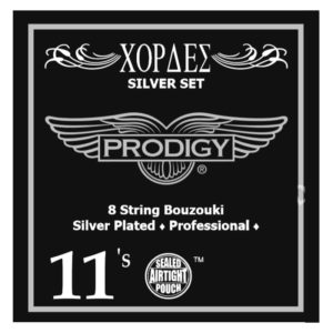 PRODIGY Silver Set 0.11's For 8 String Bouzouki