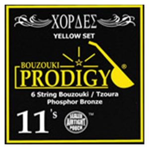 PRODIGY Yellow Set 0.11's For 6 String Bouzouki / Tzoura