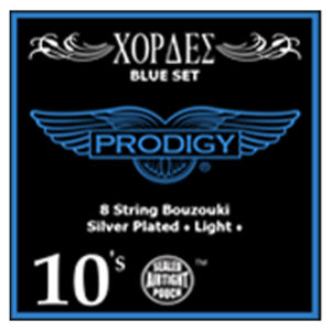 PRODIGY Blue Set 0.10's For 8 String Bouzouki