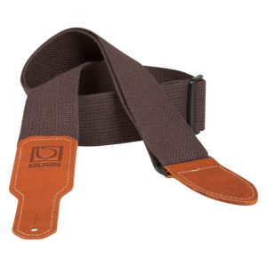 BOSS BSC-20-BRN 2 Inch Brown Cotton Guitar Strap