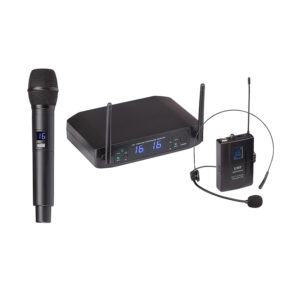 SOUNDSATION WF-U216HP UHF DOUBLE16-Channel Wireless System with 1 handheld Mic 1 Headset